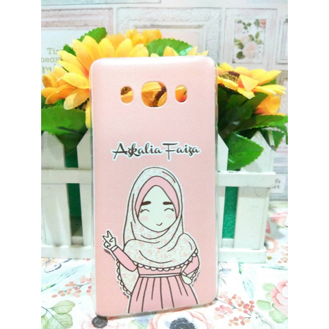 Custom Softcase Muslimah Jilbab Hijab Cantik Lucu Kartun