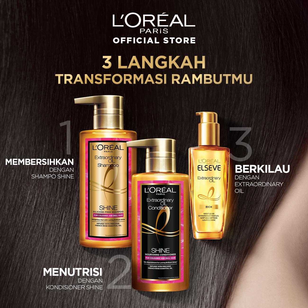 L'Oreal Paris Extraordinary Oil Premium Shampoo Shine- 440ml Twinpack-6