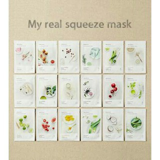 100% Original Korea NEW 2017 My Real Squeeze Mask Sheet 20ml - INNISFREE Masker thumbnail
