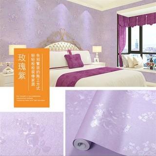 wallpaper dinding ukuran 45 cm x 10 m motif tema ungu