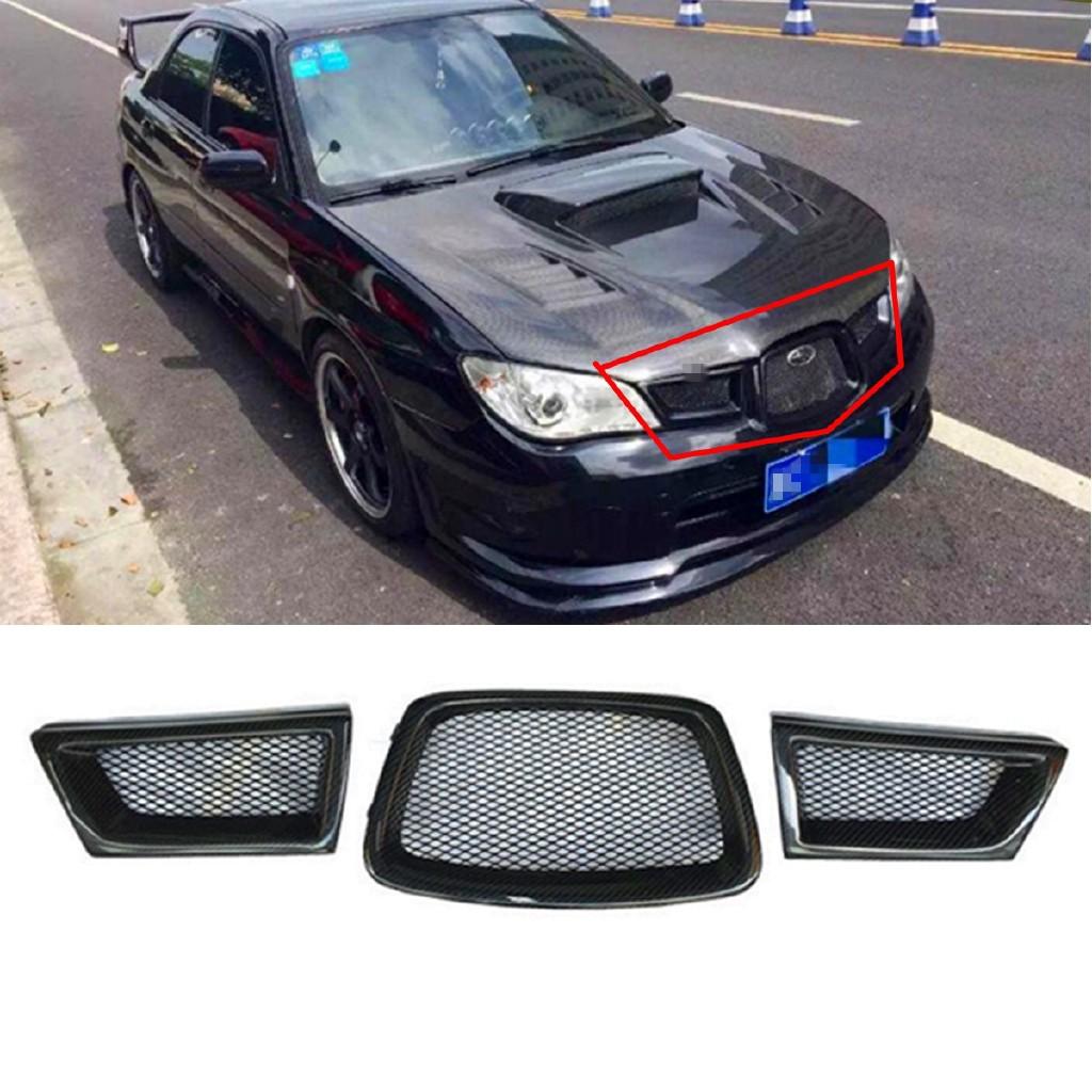 Subaru Wrx Sti For Sale >> Hot Sale 3pcs Grill Depan Bahan Serat Mesh Carbon Fiber Untuk Subaru 2006 07