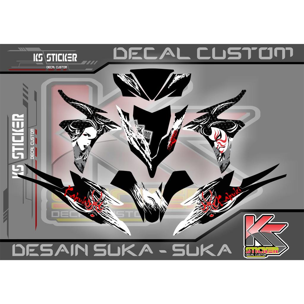 Decal stiker honda vario 110 fi barcelona shopee indonesia