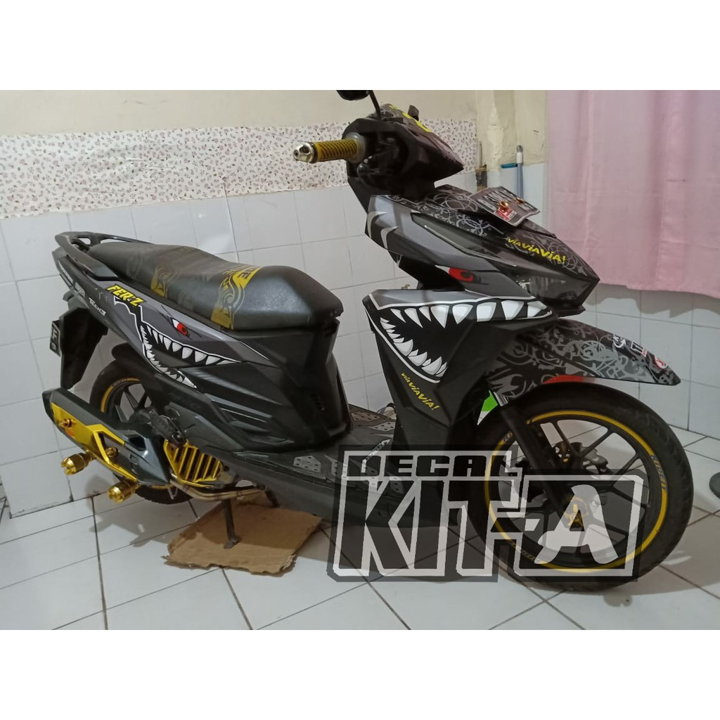 Decal vario 150 stiker vario 150 shark hiu sticker striping variasi vario 150 vario 125 shopee indonesia