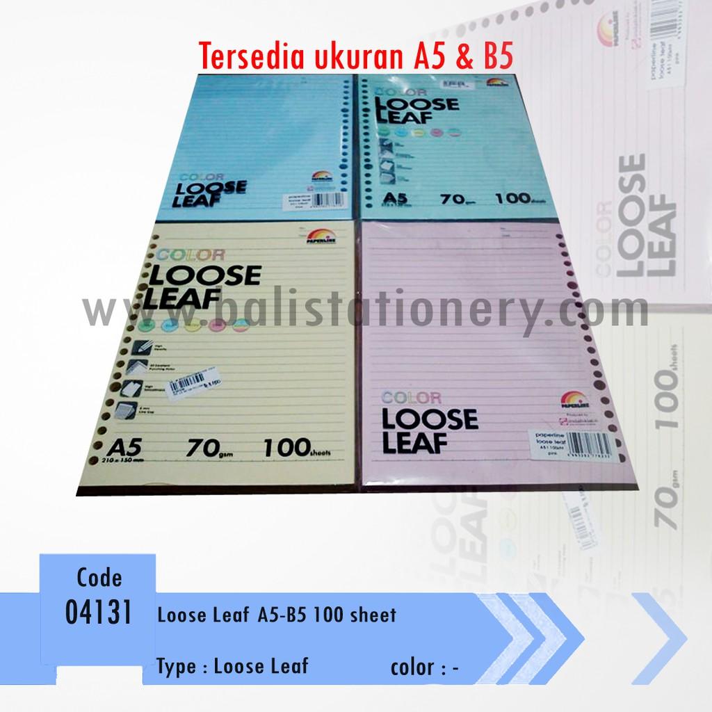 Loose Leaf A5 Isi 50 Lembar Shopee Indonesia B5 50lbr