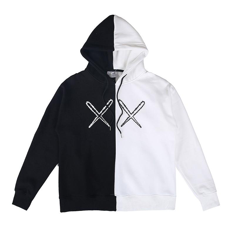 Sweater Hoodie Model Pullback Desain Kaws Angel Wings Warna Hitam Dan Putih Unisex Shopee Indonesia