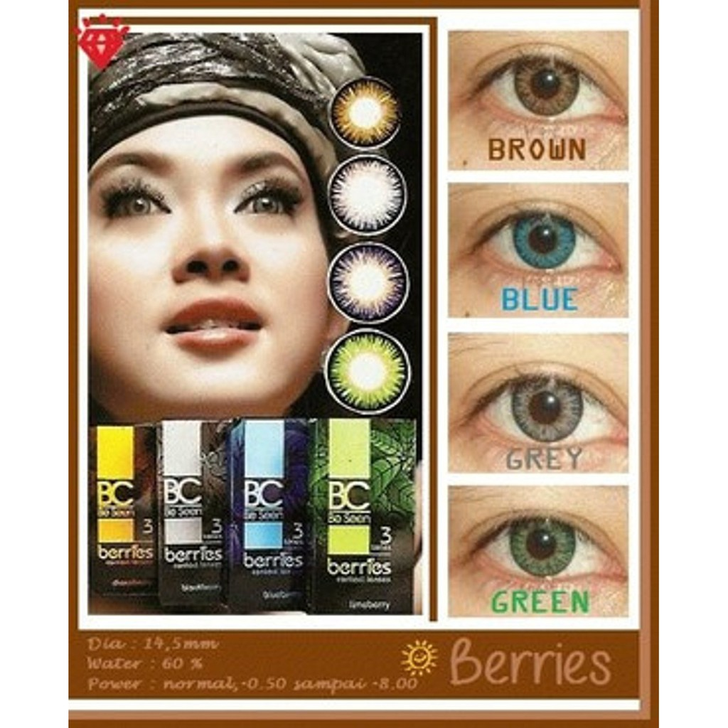 Softlens Omega Bc Berries Be Seen Shopee Diva Queen One Layer With Clear Vision Indonesia