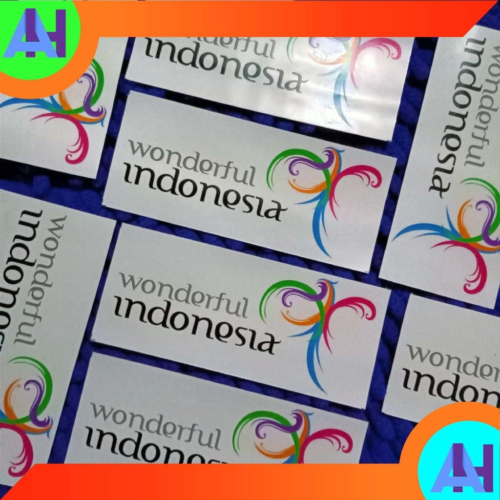 Sticker Pesona Indonesia Wonderful Indonesia Background Transparan Sticker Bis Sticker Bismania Shopee Indonesia
