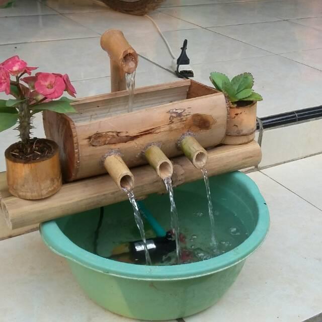 Air Mancur Bambu Dekorasi Shopee Indonesia