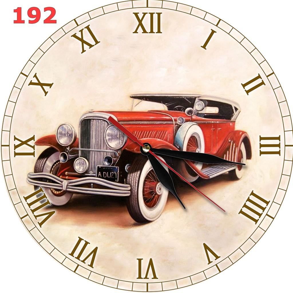 76 Jam Dinding Motif Vintage Interior Hiasan Ruang Bahan MDF ... ed74774fb1