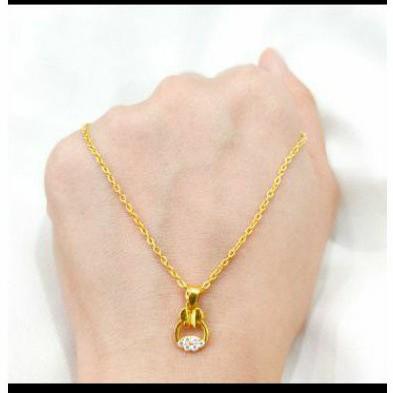 Kalung emas asli kadar 875 model vanessa kalung remaja kalung lucu