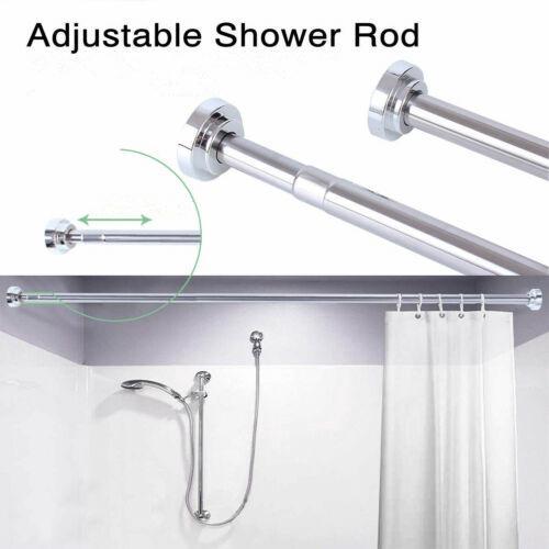 Adjustable Shower Curtain Rod.Adjustable Tension Rod Various Lengths Stainless Steel Shower Curtain Rod Rail