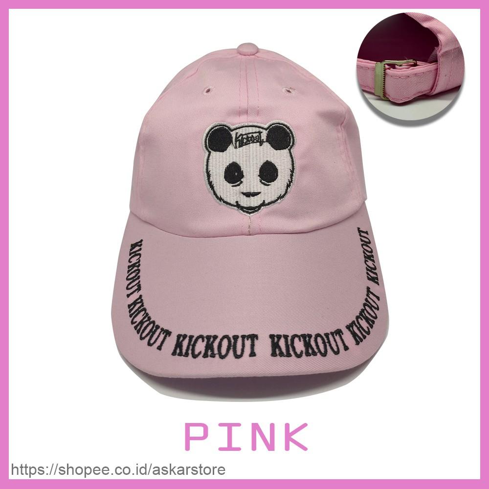 Topi Bordir Panda Topi Lucu Topi Cewek Keren Topi Warna Pink Topi Panda Gaul Topi Baseball
