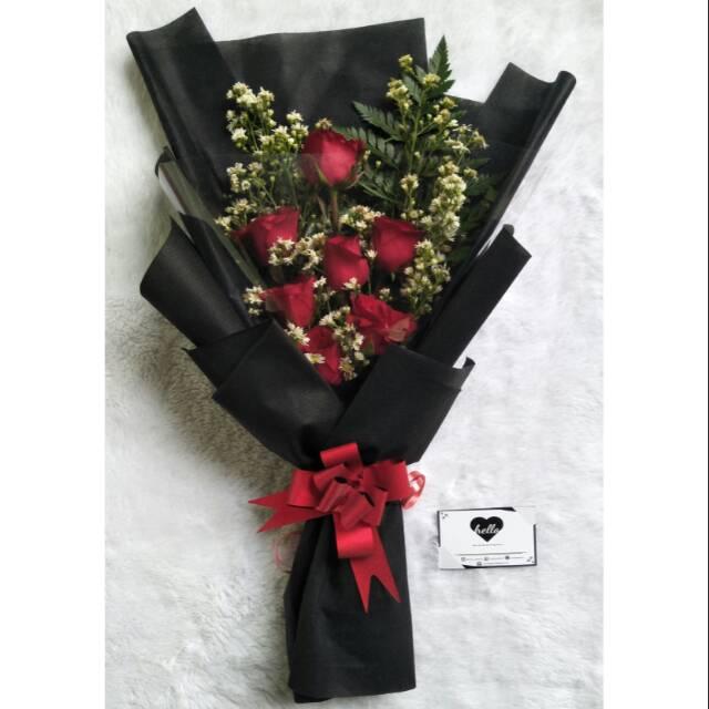 Buket Bunga Mawar Asli Fresh Flower Bouquet Buket Mawar Merah Semarang Shopee Indonesia
