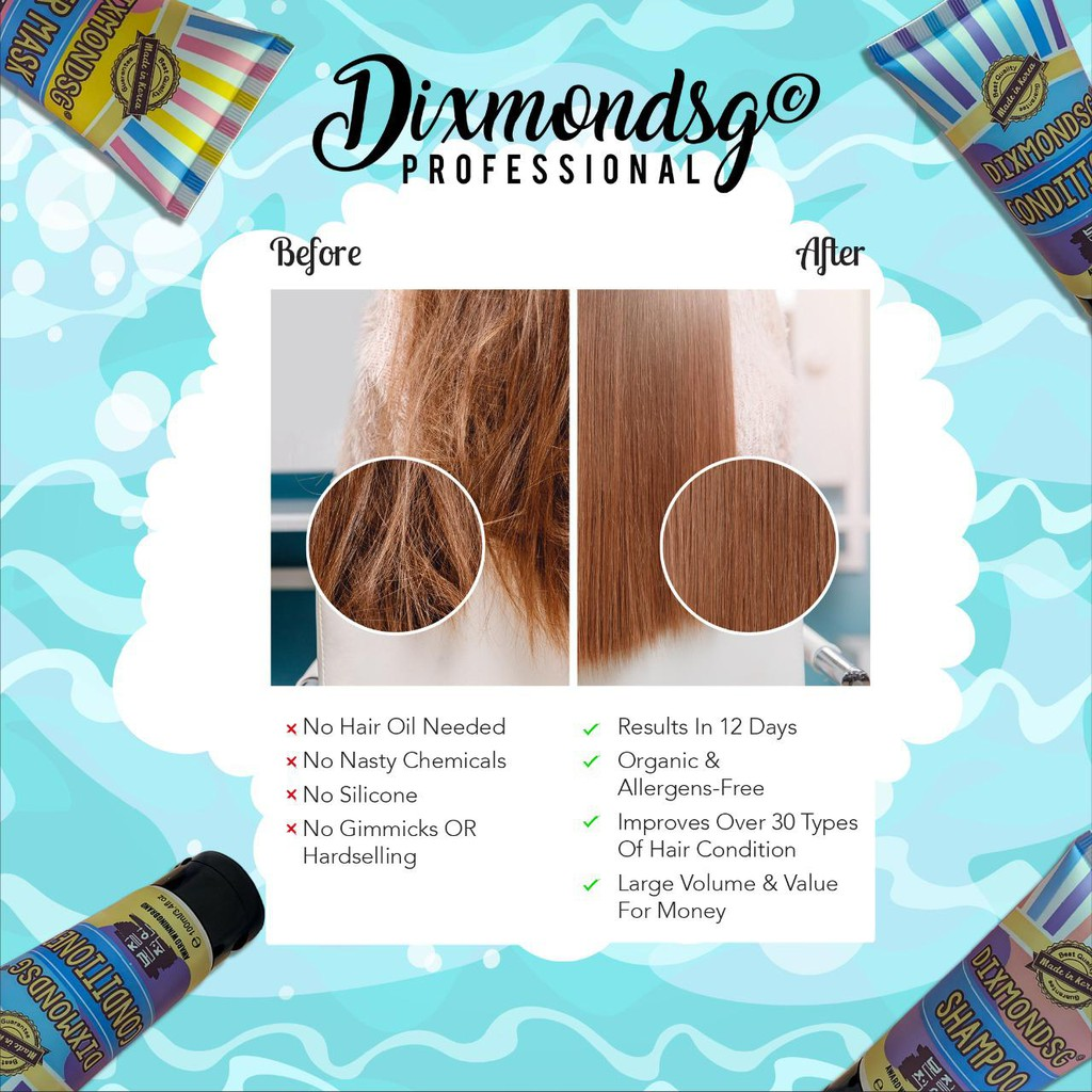 DIXMONDSG HAIR CARE TRAVEL SIZE SHAMPOO CONDI HAIR MASK AWARD-WINNING-3