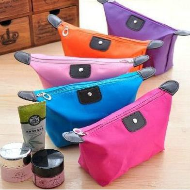 001 Tas Kosmetik Pouch Dompet Tempat Make Up Cosmetic Mini Bag - Ungu