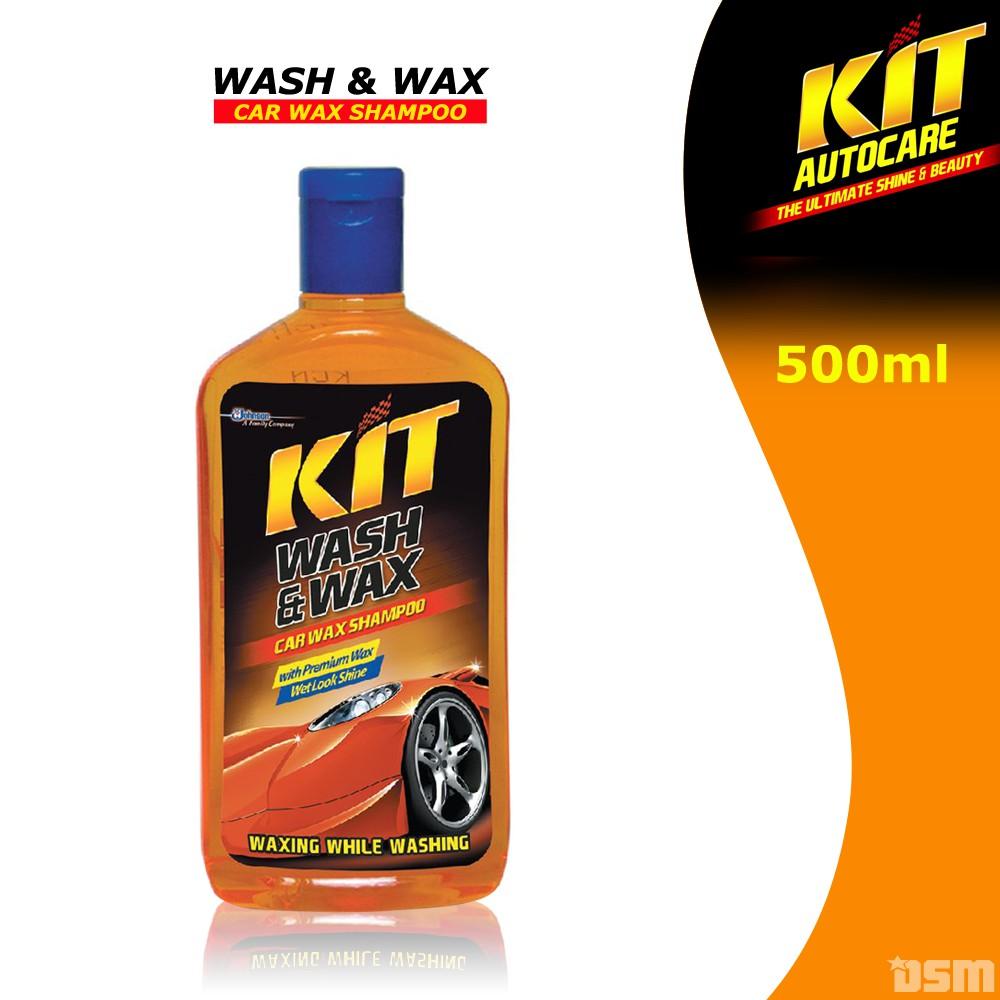 KIT Wash & Wax Shampoo 500 ml / Mencuci Sekaligus Waxing Mobil Anda / Wash and Wax Shampoo Mobil