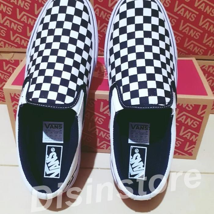 Bud Bcg 004 Sepatu Vans Slip On Og Motif Catur Checkerboard