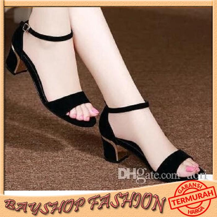 High Heels Kokop AT11 Hitam - Sepatu wanita sepatu perempuan heels wanita high heels sepatu heels