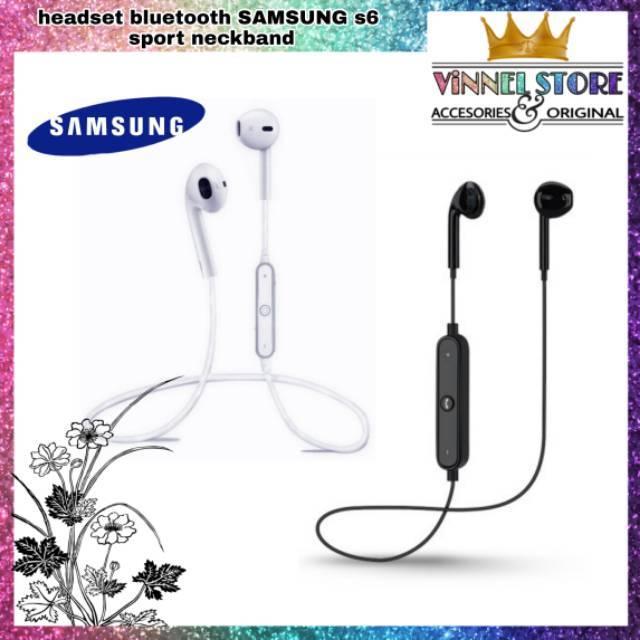 Headset Bluetooth Samsung S6 Sport Earphone Wireless Music