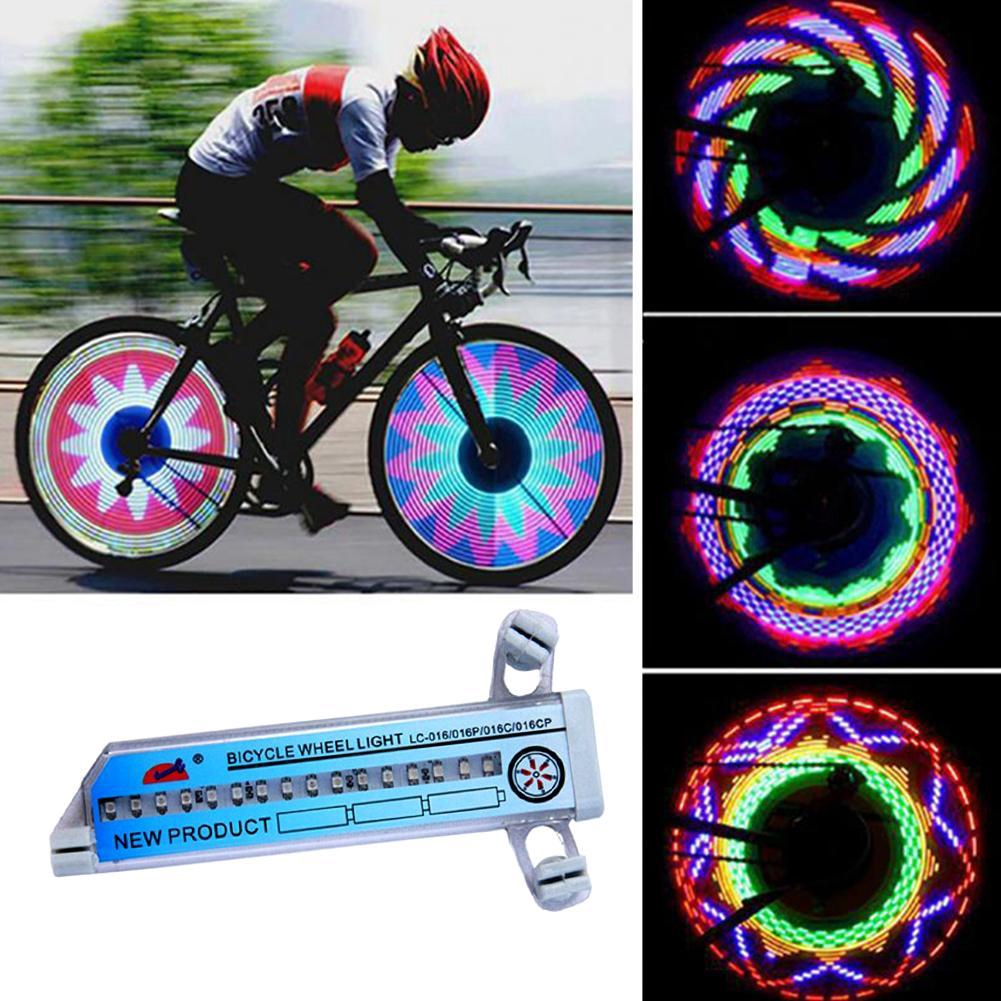 32 Pattern LED Colorful Bicycle Wheel Tire Spoke Signal Light For Bike Safety CZ