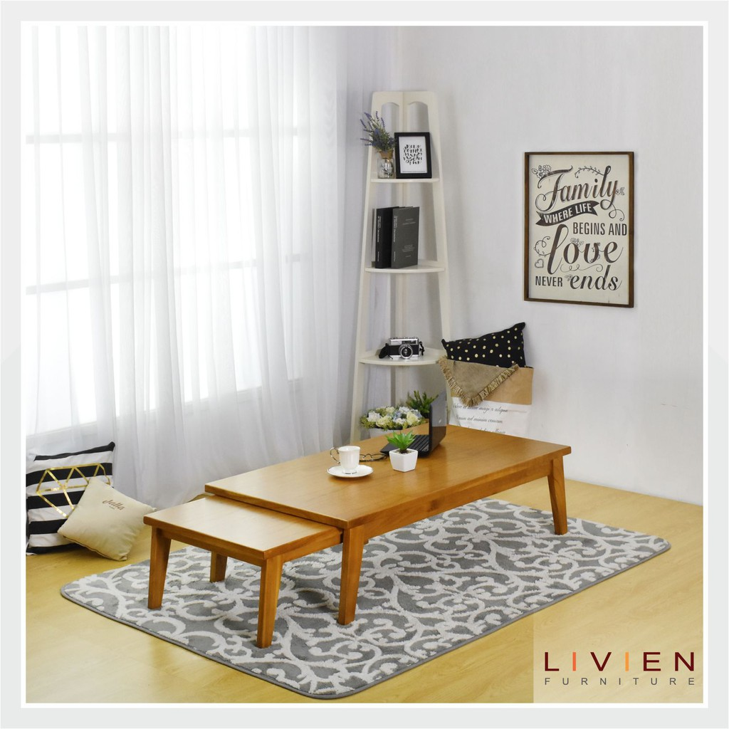 Toko Online Livien Furniture Official Shop Shopee Indonesia Set Meja Belajar Naomi Rak Buku Kursi