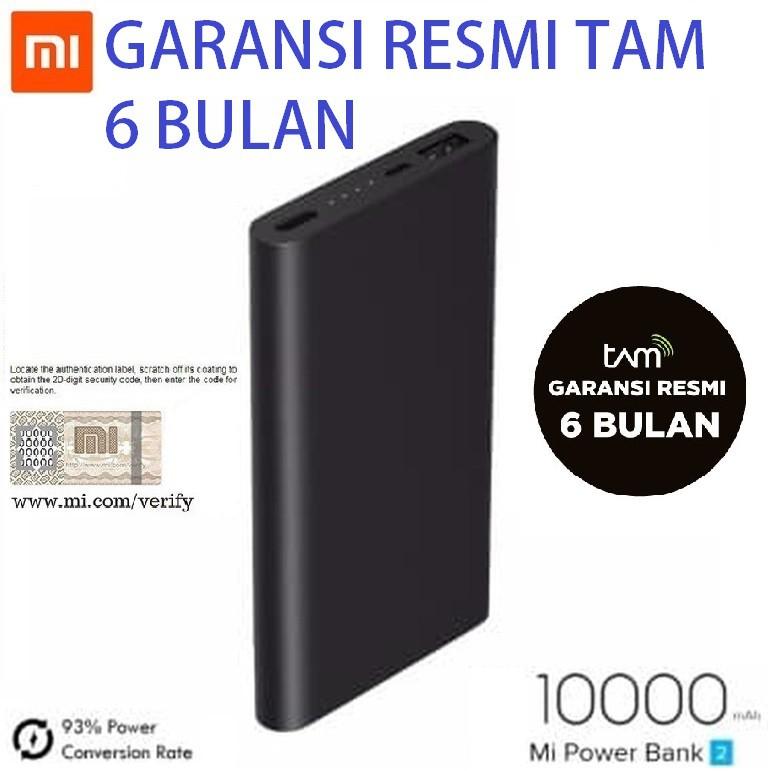 Xiaomi Powerbank 10000mAh Fast Charging Super Slim Tipe 1 USB dan 2 USB - Original