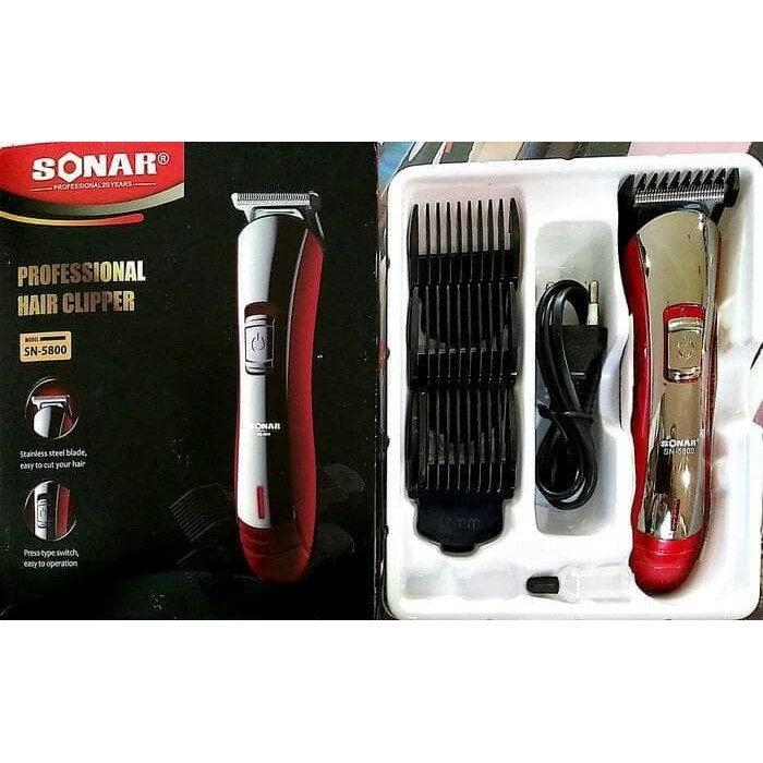 Alat cukur Kumis Jenggot Rambut Hair Clipper SONAR 5800  c21ef941b7