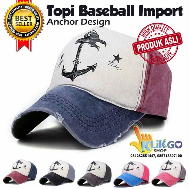 TOPI BASEBALL IMPORT ANCHOR   BASEBALL CAPS   TOPI DISTRO   SNAPBACK   TOPI  HIP HOP   TOPI IMPORT  ee6f56e77f