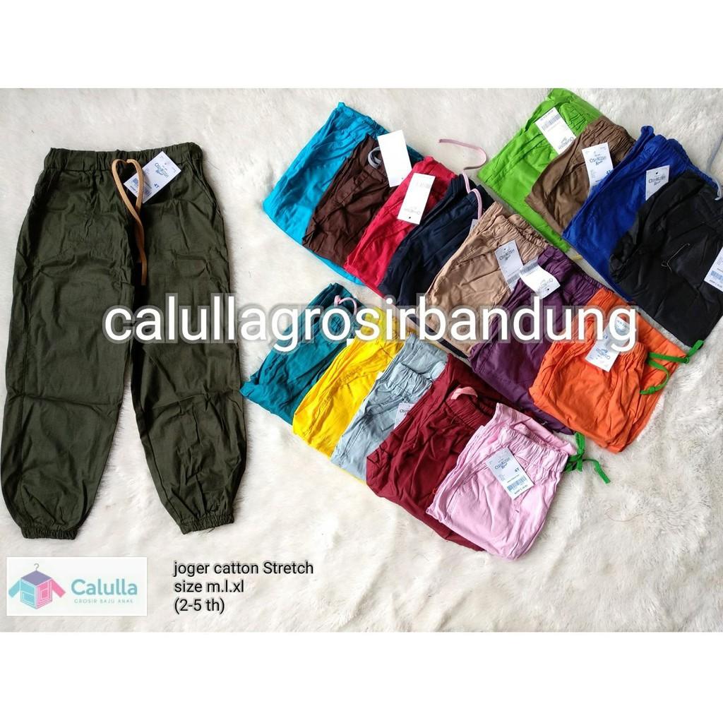 Celana Jogger Anak Polos 1 10 Tahun Joger Shopee Indonesia Size 7 8 9t Oshkosh Katun Strech