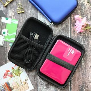 uNiQue Travel Organizer Portable Gadget / HDD Hardcase Protector Simplicity Biru. suka .