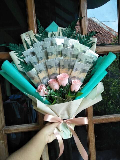 Buket Uang Kertas Bouquet Money Buket Duit Buket Bunga Uang Kertas Murah Semarang Shopee Indonesia