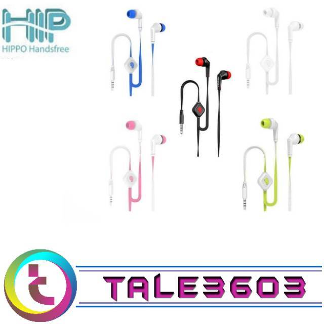 Headset earphone Handsfree Merek Hippo HIP Super Bass Original Murah | Shopee Indonesia