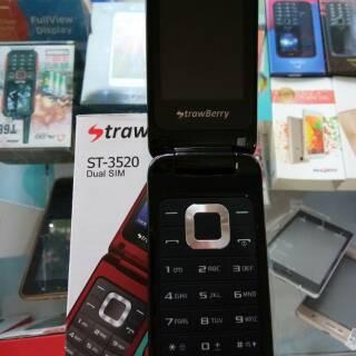 HARGA PROMO Hp Strawberry 3520 Flip Garansi 1 tahun BEST SELLER   Shopee Indonesia