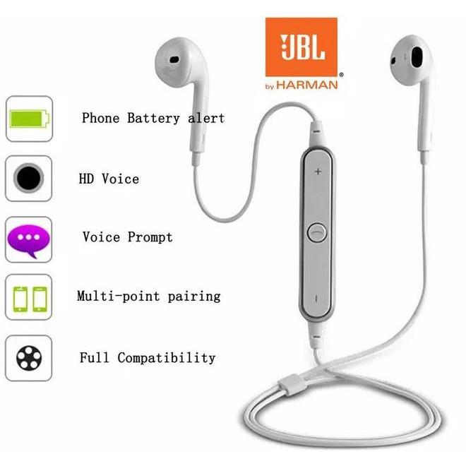 Jbl Harga Headset Bluetooth Blutut Bt Sport Wireless S6 Hitam Shopee Indonesia