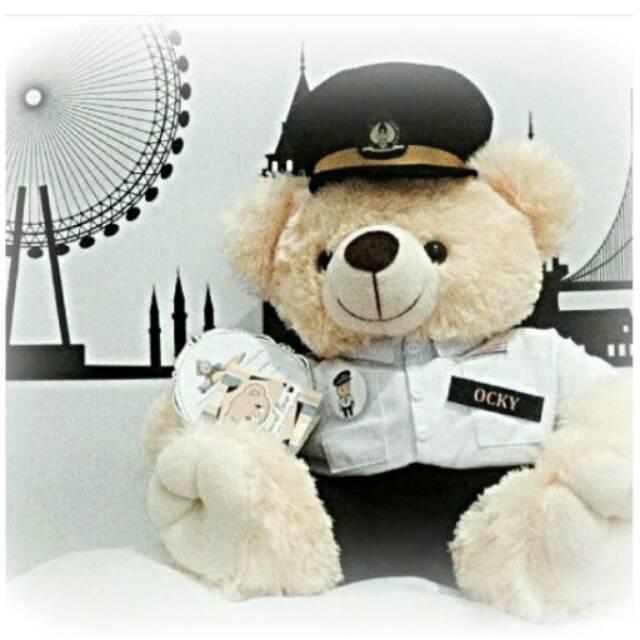 Boneka Teddy Bear Profesi Pegawai Bank dan Pilot  46e6d170ba