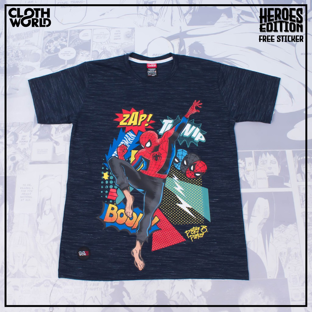Kaos Peter B Parker Spiderman Movie Spider Man Into The Spider Verse Shopee Indonesia