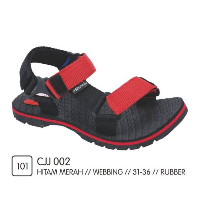 Sandal Gunung Anak Laki-Laki / Sendal Hiking Outdoor Selop Hitam Tali Merah 7-12 Tahun Size 31 - 37 | Shopee Indonesia