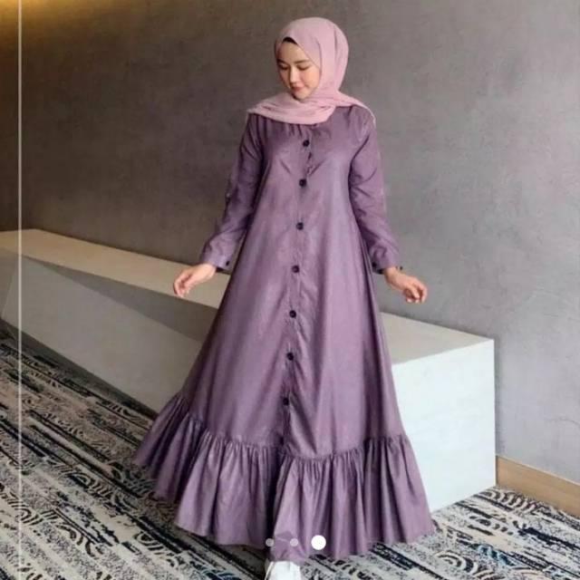 Baju Gamis Remaja Fashion Muslim Terbaru Gamis Polos Gamis Renda Shopee Indonesia