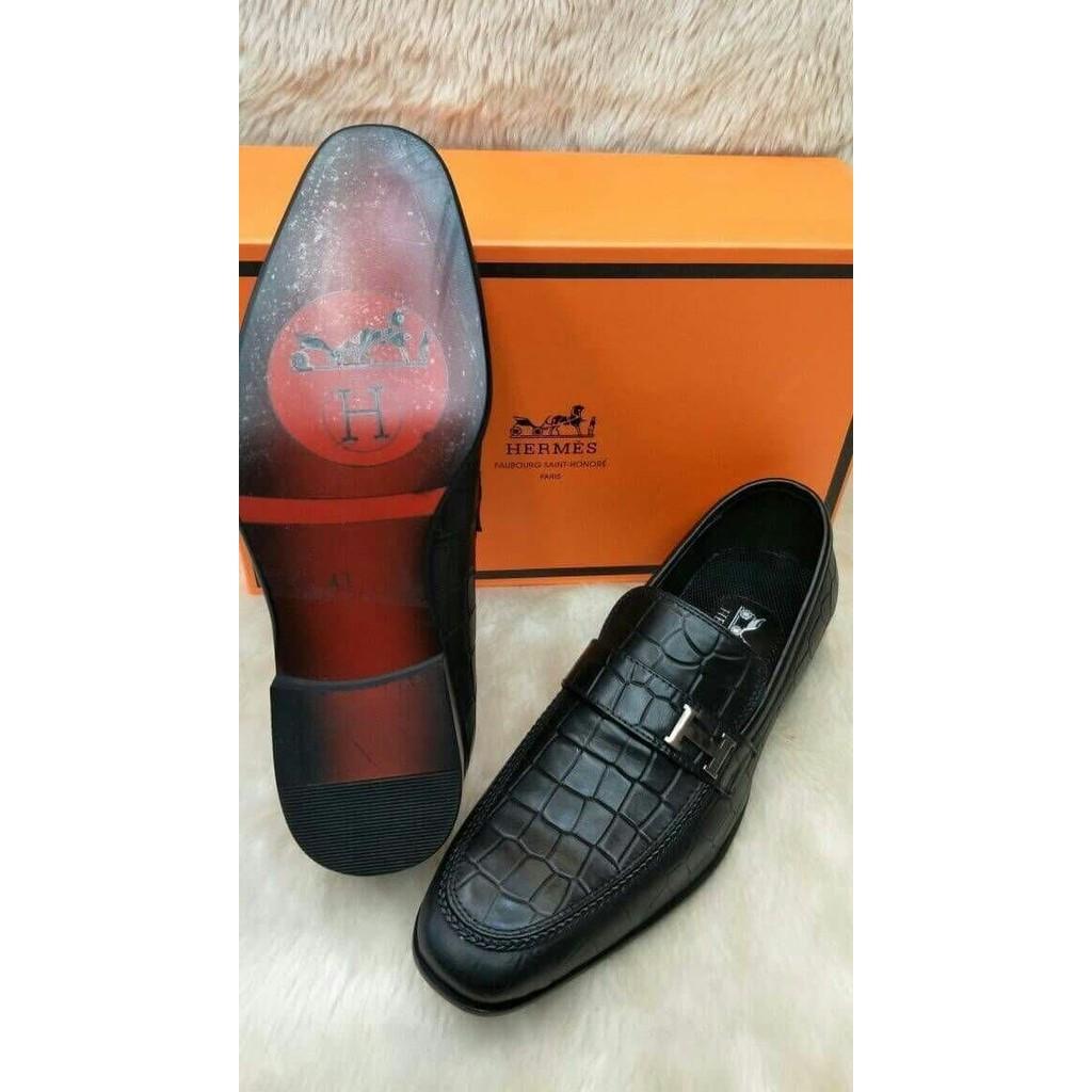 Sepatu Hermes Loafers Black Mirror Quality C4926  63b6903240