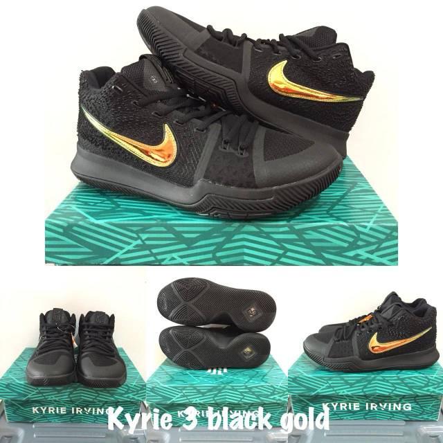 Sepatu basket KYRIE 4 BLACK GOLD  26deffaa40