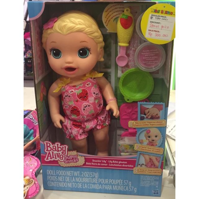 harga Baby Alive Lily, bonekanya bisa makan n pup loh mom! only 295k! Shopee.co.id