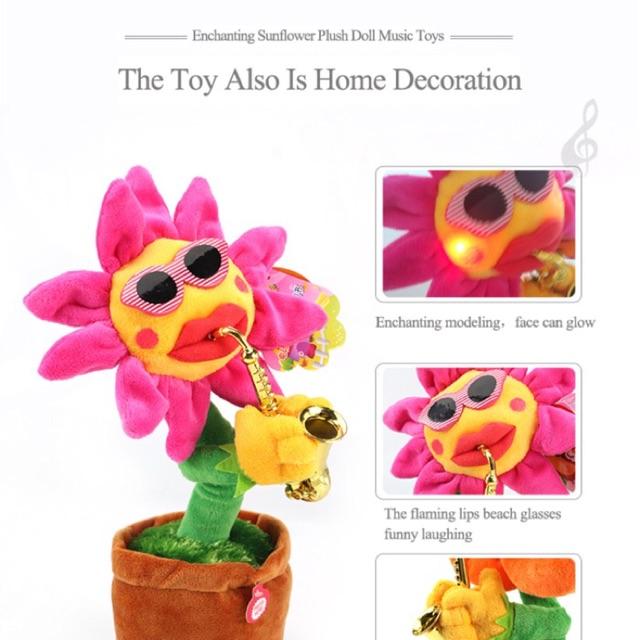 Ntl Sun Flower Toy Mainan Bunga Matahari Bisa Menari Dan Music Shopee Indonesia
