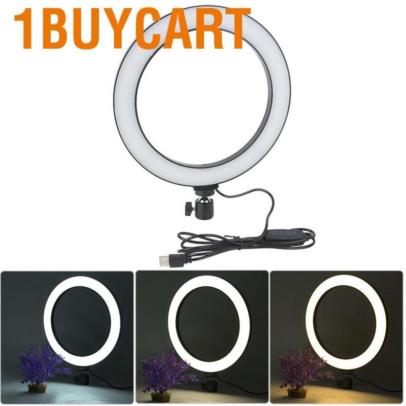 Senyar LED Flash Light 10 inch LED Ring Light Living Broadcast Selfie Fill Lamp Dimmable 3 Light Modes Aluminum alloy
