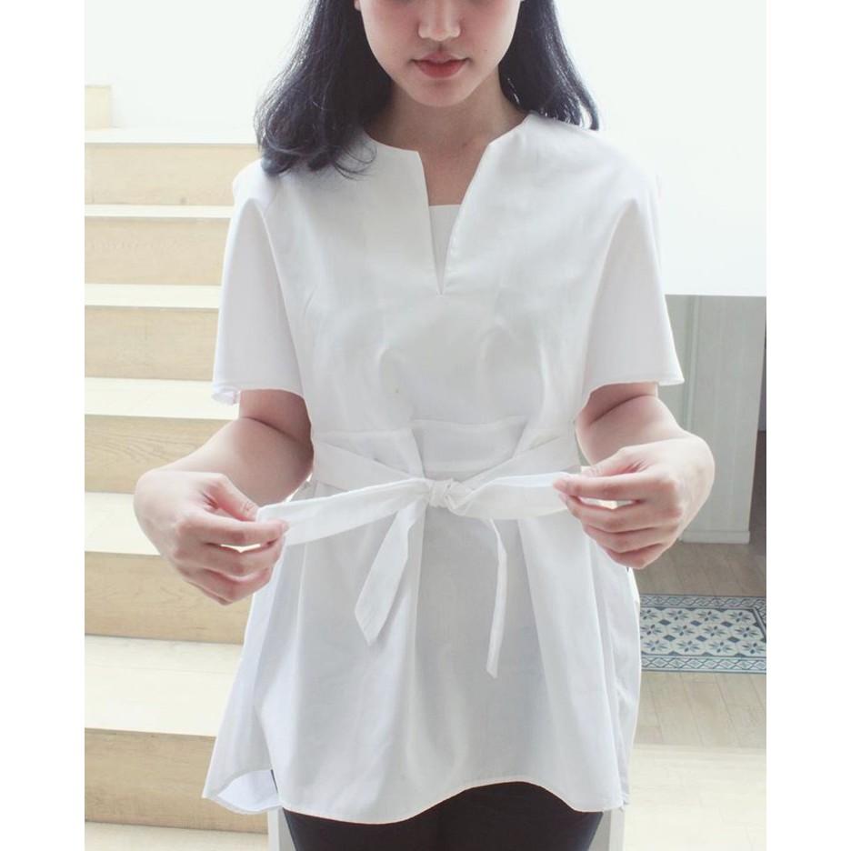 Dapatkan Harga Murah Wanita Daster Atasan Diskon Shopee Indonesia Asana Panawangan Woman Blouse Batik Beige