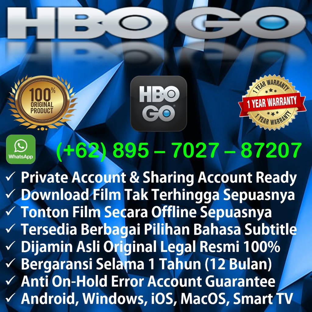Akun HBO GO Premium (HBO GO Premium Account) 1 Tahun (12