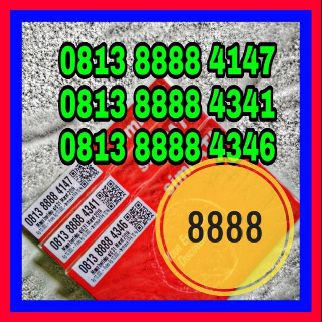 Nomor Cantik Simpati 0813 8888 4147 0813 8888 4341 4346 seri Kwartet 8888 Murah Meriah |