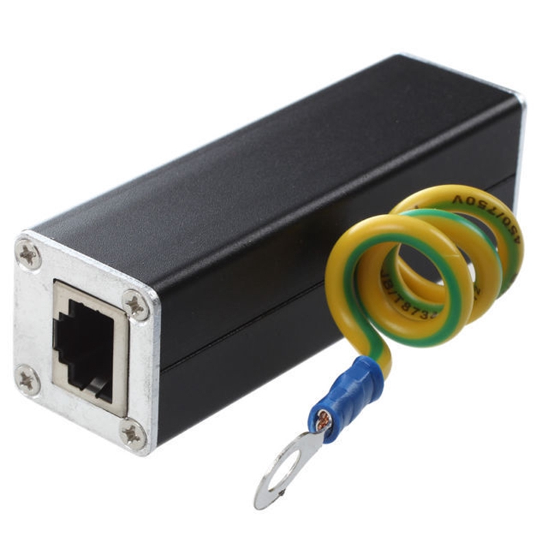 POE Ethernet Surge Protector Thunder Arrester Thunder POE Gigabit CAT5 Cat6