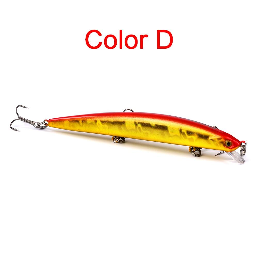 Umpan Ikan Minnow 5.5cm / 8.26g Bahan Plastik Keras dengan Kail / Mata Pancing