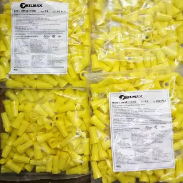 Lasdop kabel warna kuning2- 4 mm merk Philmax