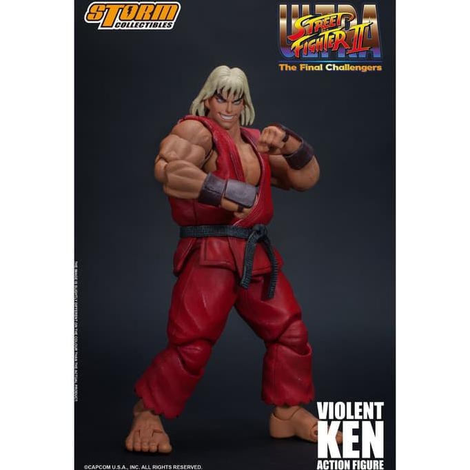 Storm Toys 1 12 Violent Ken Street Fighter 2 Figure Figure Set
